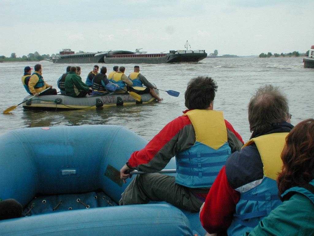 Rafting auf dem Rhein Bild